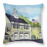 Locust Valley Firehouse Throw Pillow