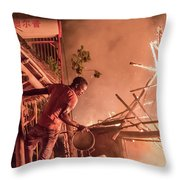 Lodge Fire Throw Pillow
