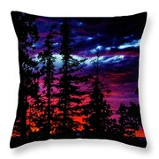 Lodge Sunset Throw Pillow