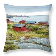 Lofoten Cabins 3 Throw Pillow