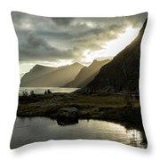 Lofoten Sunset 5 Throw Pillow