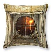 Loft Window At Night Throw Pillow