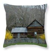 Log Cabin Throw Pillow