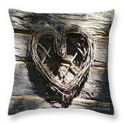 Log Cabin Love Throw Pillow