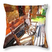 Log Cabin  Throw Pillow