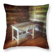 Log Cabin Table Throw Pillow