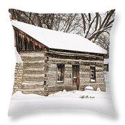 Log Home Throw Pillow