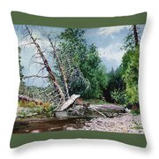 Log Jam Throw Pillow