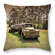 Log Mover Throw Pillow