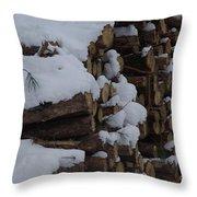 Log Row Throw Pillow