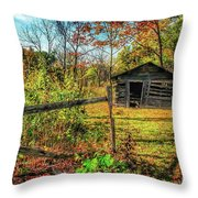 Log Structure For Meat Storage Throw Pillow