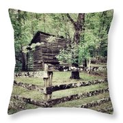 Log Structure For Storage Throw Pillow