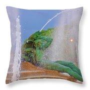 Logan Circle Fountain 3 Throw Pillow