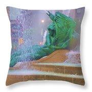 Logan Circle Fountain 5 Throw Pillow