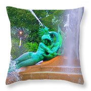 Logan Circle Fountain 6 Throw Pillow