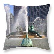 Logan Circle Fountain Throw Pillow