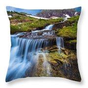 Logan Pass Stormclouds Throw Pillow