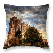 Logan Temple Cloud Backdrop Throw Pillow