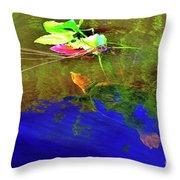 Loggerhead Sea Turtle In The Florida Everglades Throw Pillow