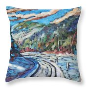Loggers Road  Throw Pillow