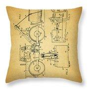 Logging Truck Patent Throw Pillow