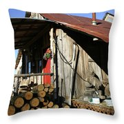 Logs For Winter Throw Pillow