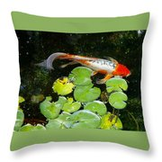 Loi With Lily Pads C Throw Pillow