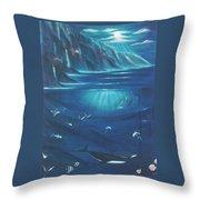 Loihi Rising  Throw Pillow