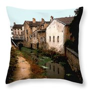 Loire Valley Village Scene Throw Pillow