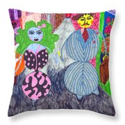 Lois And Arnold Roundabout Throw Pillow