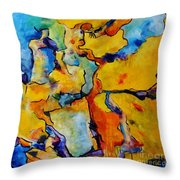 Portrait Of Lois Throw Pillow by Chaline Ouellet