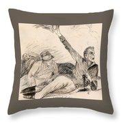 Lojtnant Ziden Throw Pillow
