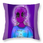 Lol Alien Girl Throw Pillow