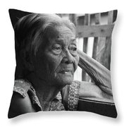 Lola Image Number 33 In Black And White. Throw Pillow