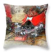 Lola In The Pits Throw Pillow