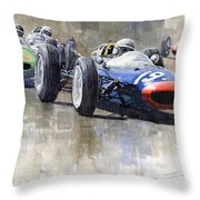 Lola Lotus Cooper Ferrari Datch Gp 1962 Throw Pillow