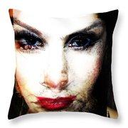 Lola, The Art Teacher Throw Pillow