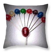 Lollipop Balloons  Throw Pillow