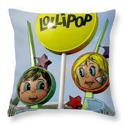 Lollipop Motel - North Wildwood New Jersey Throw Pillow