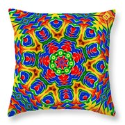 Lollipops Kaleidoscope 2 Throw Pillow