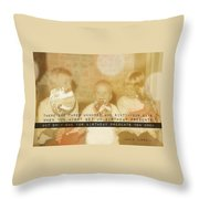 Lollipops Quote Throw Pillow