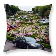 Lombard Street Throw Pillow