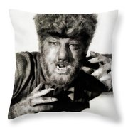 Lon Chaney, Jr. As Wolfman Throw Pillow