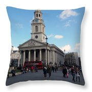 London - Sunny Day Throw Pillow