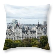 London Along The River Thames Throw Pillow