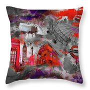 London Art 56 Throw Pillow