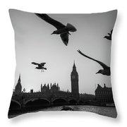 London, Big Ben  Throw Pillow