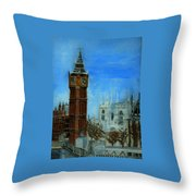 London Big Ben Clock  Throw Pillow
