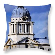 London Blues Throw Pillow