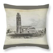 London Boston Church. Throw Pillow